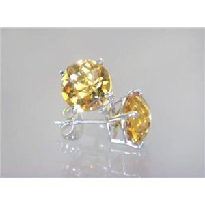 SE112, Citrine, 925 Sterling Silver Earrings
