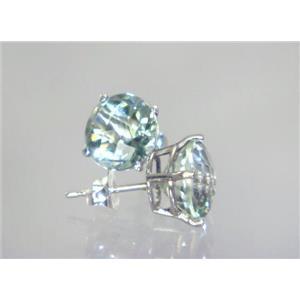 SE112, Green Amethyst, 925 Sterling Silver Earrings