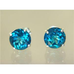 SE112, Paraiba Topaz, 925 Sterling Silver Earrings