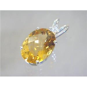 SP018, Citrine 925 Sterling Silver Pendant