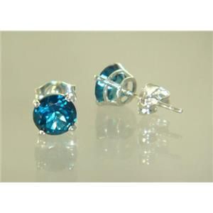 Paraiba Topaz, 925 Sterling Silver Earrings, SE012