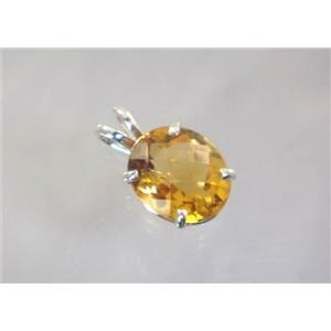 SP040, Citrine 925 Sterling Silver Pendant