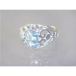 Aquamarine, 925 Sterling Silver Ring, SR111