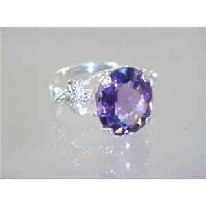 Amethyst, 925 Sterling Silver Ring, SR154