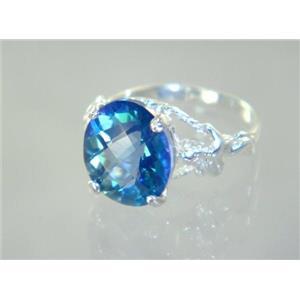 Neptune Garden Topaz, 925 Sterling Silver Ring, SR154