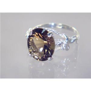 Smoky Quartz, 925 Sterling Silver Ring, SR154