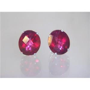 Crimson Topaz, 925 Sterling Silver Earrings, SE202