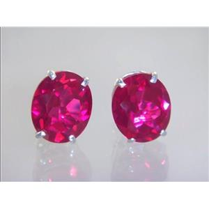 Created Ruby, 925 Sterling Silver Earrings, SE202