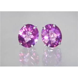 Pure Pink Topaz, 925 Sterling Silver Earrings, SE202