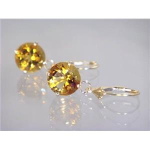 E217, Citrine, 14k Gold Earrings