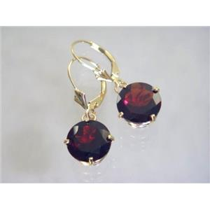 E217, Mozambique Garnet, 14k Gold Earrings