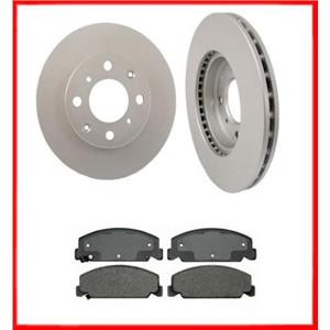 90-00 Check Fitment In Listing Civic Front Brake Rotors Ceramic Pads 31029 CD273
