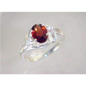 SR176, Mozambique Garnet, 925 Sterling Silver Ring