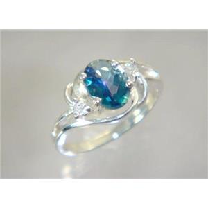 SR176, Neptune Garden Topaz, 925 Sterling Silver Ring