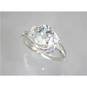 SR176, Silver Topaz, 925 Sterling Silver Ring
