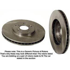 1975-1985 Mercedes 240 280 300 Brake Disc Rotors Rotor Fr