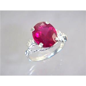 Created Ruby, 925 Sterling Silver Ring, SR154