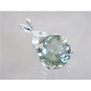 SP087, Green Amethyst 925 Sterling Silver Pendant