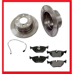 96-98 Z3 1.9L 95-99 318Ti Front Brake Rotors CD558 Ceramic Brake Pads Sensor