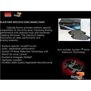 Rr Brake Pads 93-00 Lexus LS400 95-98 Toyota  Supra