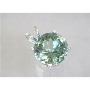 SP088, Green Amethyst 925 Sterling Silver Pendant