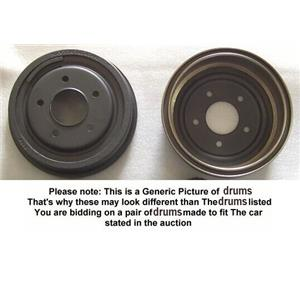 Rear Brake Drum Drums fits Hyundai Accent 97 98 99