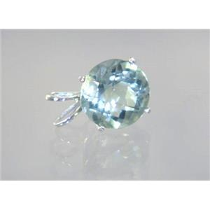 SP089, Green Amethyst 925 Sterling Silver Pendant