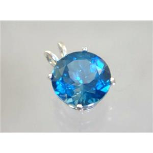SP089, London Blue Topaz 925 Sterling Silver Pendant