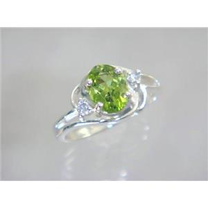 SR176, Peridot, 925 Sterling Silver Ring