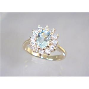 R235, Aquamarine, Gold Ring