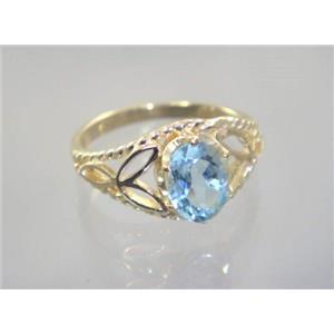R137, Aquamarine, Gold Ring