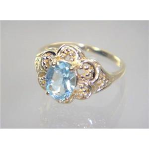 R125, Aquamarine, Gold Ring