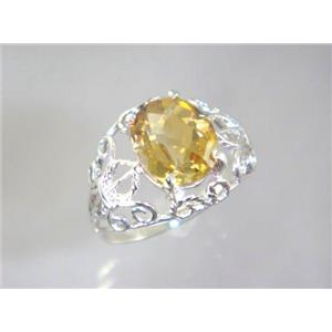 SR162, Citrine, 925 Sterling Silver Ring