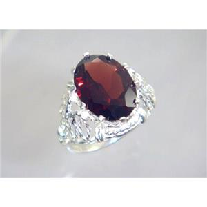SR260, Mozambique Garnet, 925 Sterling Silver Ring