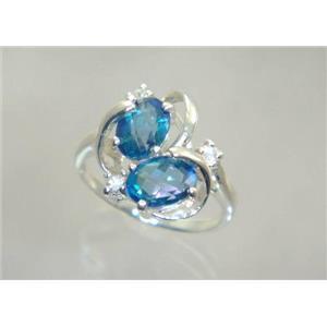 SR016, Neptune garden Topaz, 925 Sterling Silver Ring