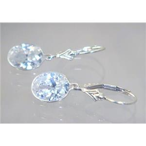 SE101, Cubic Zirconia, 925 Sterling Silver Earrings