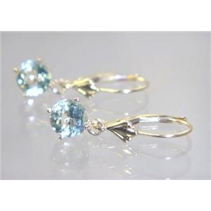 E017, Green Amethyst, 14k Gold Earrings