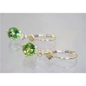 E017, Peridot, 14k Gold Earrings