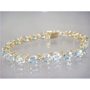 B001, Aquamarine Gold Bracelet