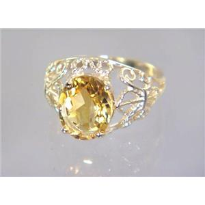 R162, Citrine, Gold Ring