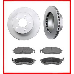 Front Brake Rotors & Ceramic Pads Fits For 2006-2007 Saab 9-7X 4.2L 5.3L