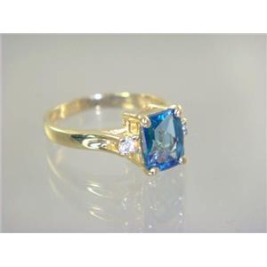 R171, Neptune Garden Topaz, Gold Ring
