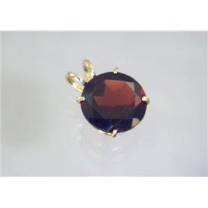 P089, Mozambique Garnet 14K Gold Pendant