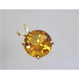 P089, Citrine 14K Gold Pendant