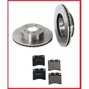 93-95 Eurovan USA Production Brake Disc Rotors Vented Rotor Front & Pads