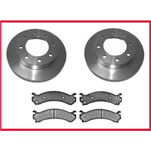 2002 2003 2004 2005 2006 Chevrolet Avalanche 2500 Front Brake Rotors & Ceramic Pads