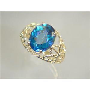 R162, Neptune Garden Topaz, Gold Ring