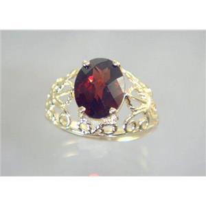 R162, Mozambique Garnet, Gold Ring