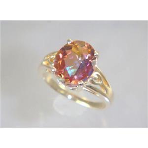 R139, Twilight Fire Topaz, Gold Ring