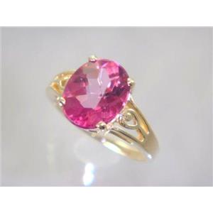 R139, Pure Pink Topaz, Gold Ring